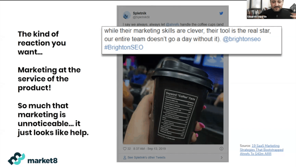 Marketing at the service of the product