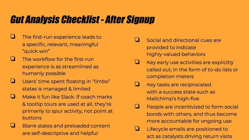 Gut Analysis Checklist